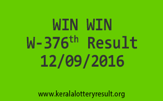 WIN WIN W 376 Lottery Results 12-9-2016