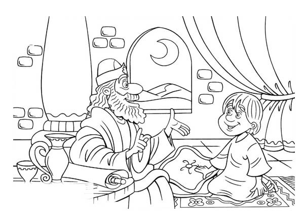 the call of samuel coloring pages | God Calls Samuel Page Coloring Pages