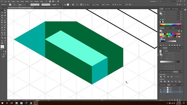 Isometrik, tutorial isometrik, isometrik pemula, illustrator isometrik, desain isometrik, isometrik huruf, membuat huruf isometrik