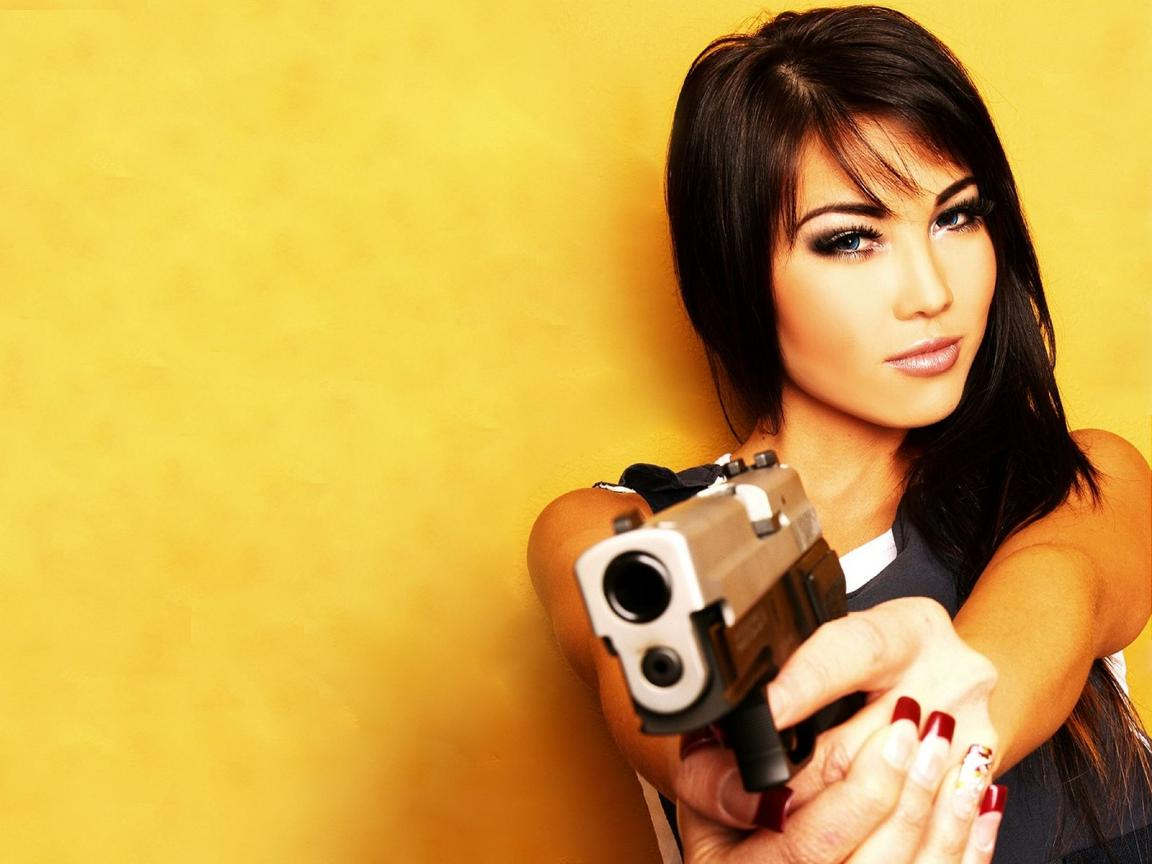 Sorry, that bad girls with guns well