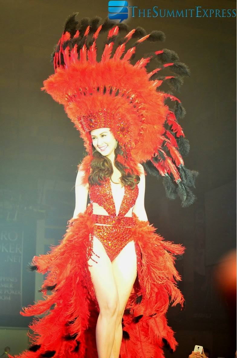 Marian Rivera walks down the runway at FHM Victory Party 2014