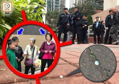 Lagi, Pejalan Kaki menjadi Korban Tembak Bola Mainan di Lokasi Yang Sama - Tseung Kwan O