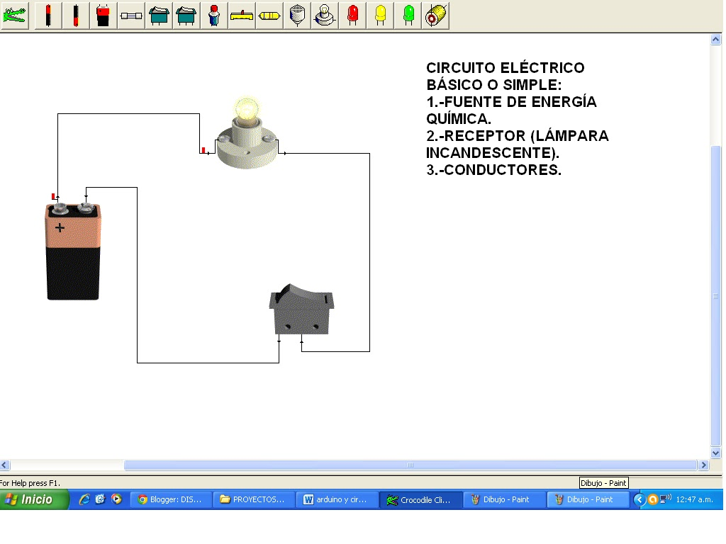 Circuito Electrico Simple : Tareas primeros a y b diseÑo de circuitos elÉctricos