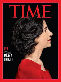 Gianotti on the cover of Time magazine