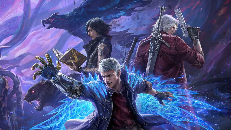 Devil May Cry 5, Nero, V, Dante, 4K, #3.1962