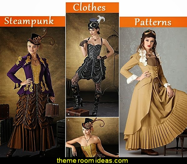 steampunk clothes sewing patterns  Steampunk decorating ideas - Victorian punk rock style creates the steampunk theme - steam punk Industrial style decorating ideas  - steampunk gears decor - Steampunk clothes - Steampunk Costumes - Steampunk home decor