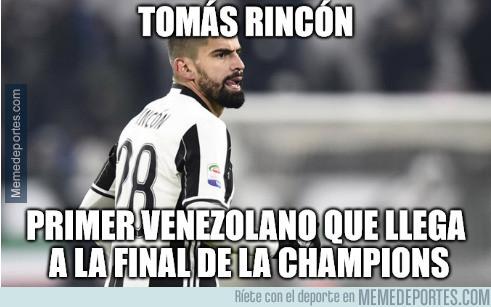 Rincón, primer venezolano en jugar la final de Champions