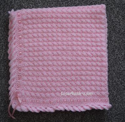 Free Crochet Baby Blanket, crochet border, crochet blanket