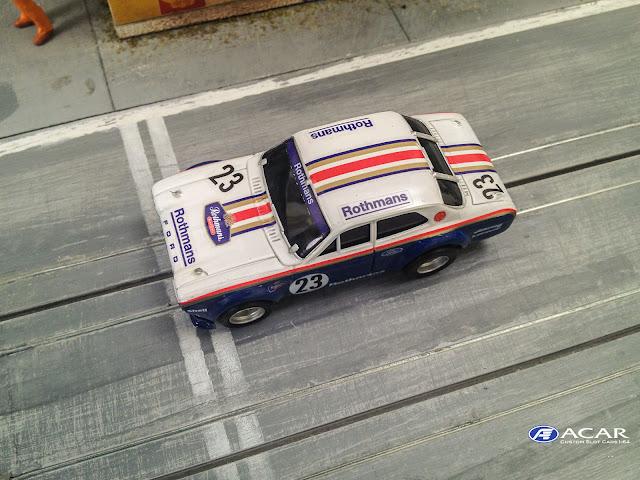 AFX FORD Escort Custom Slot Car ROTHMANs