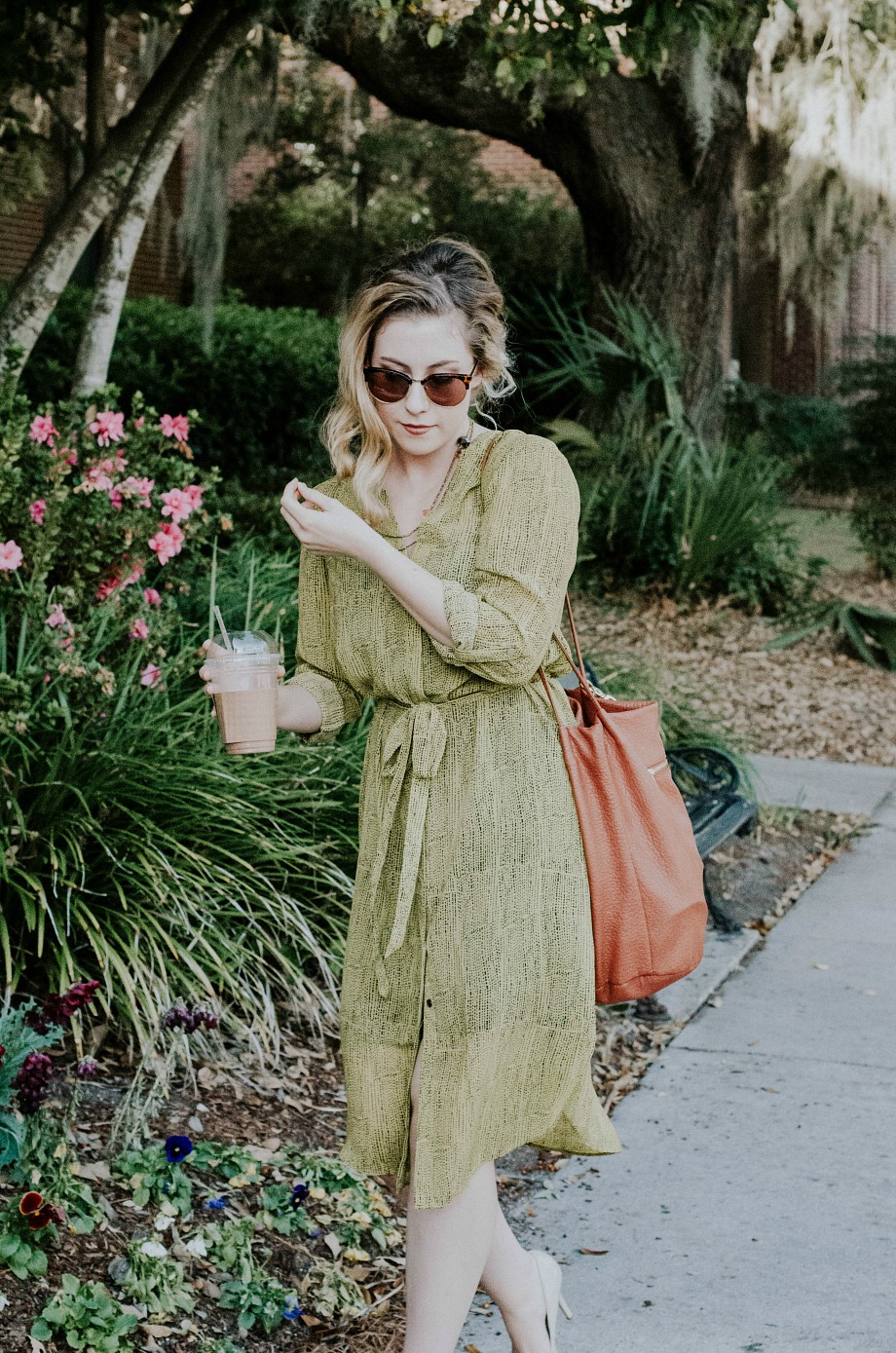 h-and-m-chartreuse-green-midi-dress-the-nosh-life