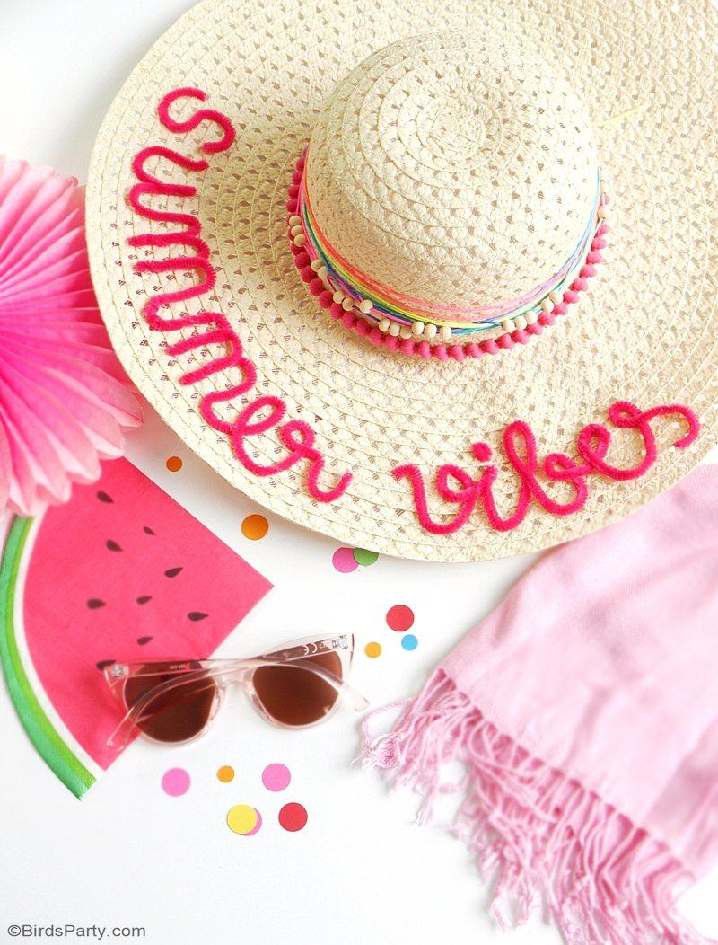 DIY Custom Summer Sun Hats - Party Ideas  d9e19e33673