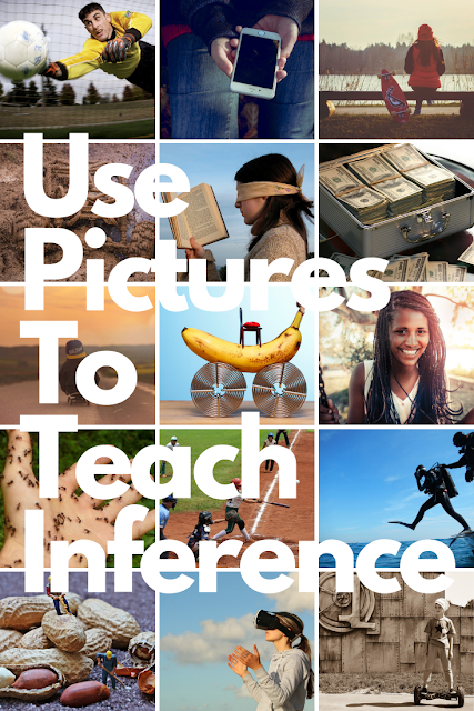 Use Pictures to Teach Making Inferences #inference #criticalthinking #readingskills #ela