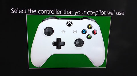 "Reads ""Select the controller that your co-pilot will use""."