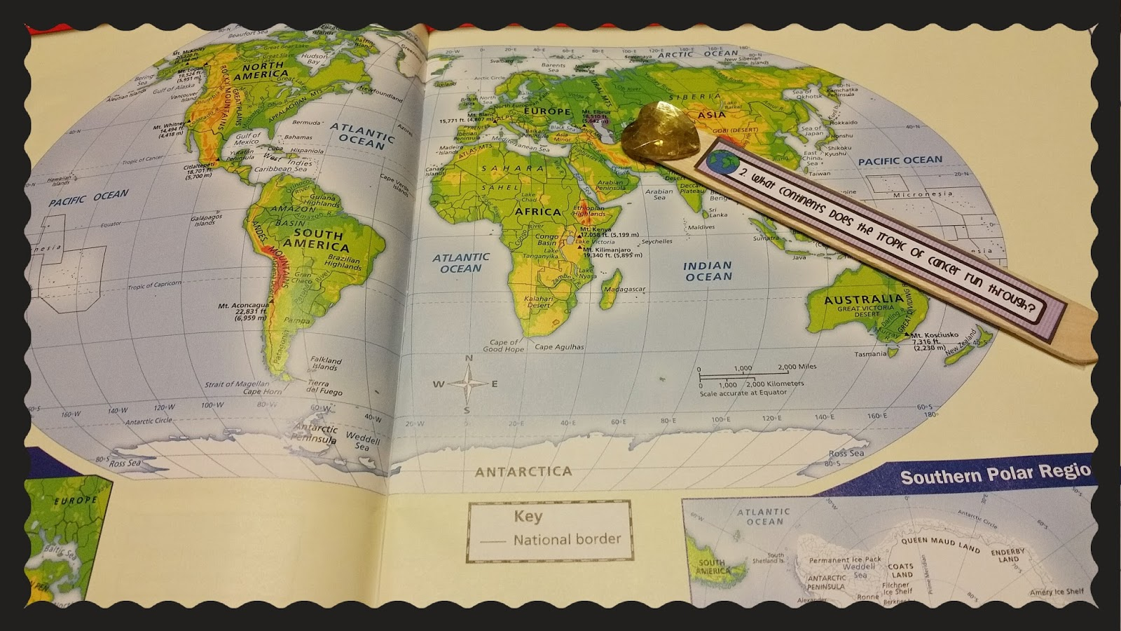 Teel s Treats  Social Studies Geography Question Sticks Students can quickly and easily practice their mapping skills using these  questions in a fun way