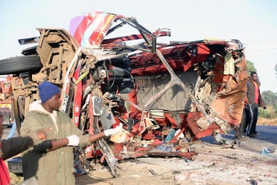Truck and Bus collision leaves 36 dead