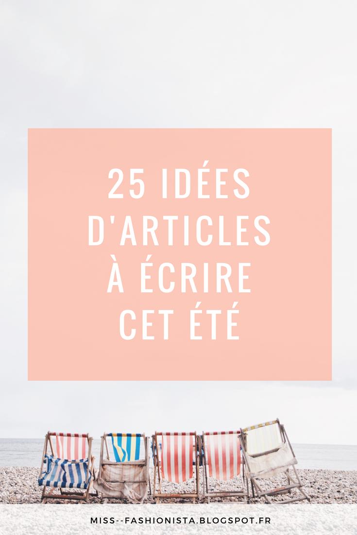 idées d'articles pour son blog