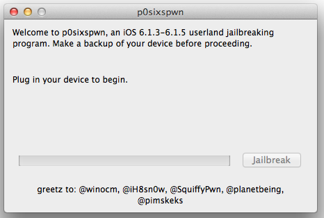 P0sixspwn for Mac Operating System X