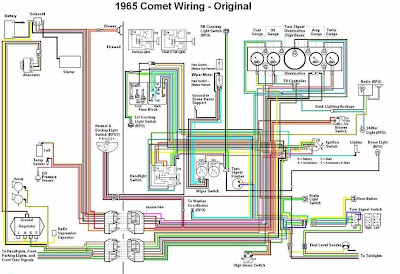 Mercury Comet 1965 Original Wiring Diagram | All about