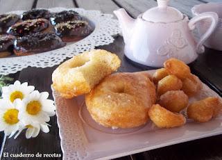 Donuts de azúcar y chocolate