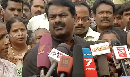 Seeman slams TN police and state govt over the attack on youngsters and Nadukuppam people
