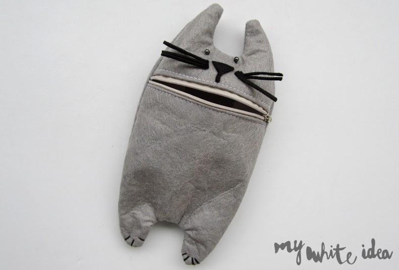 CAT PENCIL CASE DIY (Republished)   MY WHITE IDEA DIY