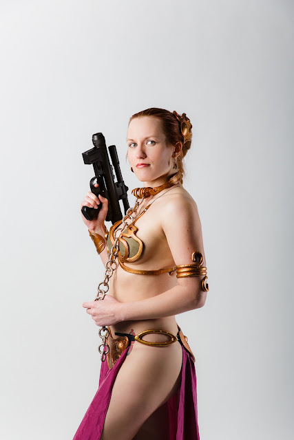 Princess Leia as Jabba's Slave