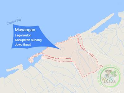 PETA : Desa Mayangan, Kecamatan Legonkulon