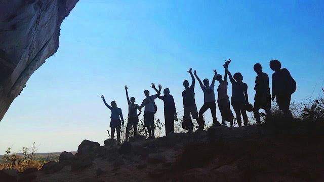 Grupo animado da minha viagem