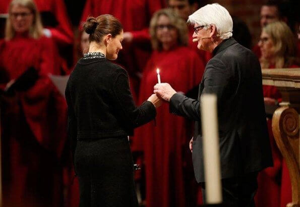Crown Princess Victoria attended a memorial service at Stockholm Cathedral, held to honor those who died in the downed airplane in Iran