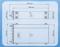 Габаритные размеры AC-конвертера ACC06