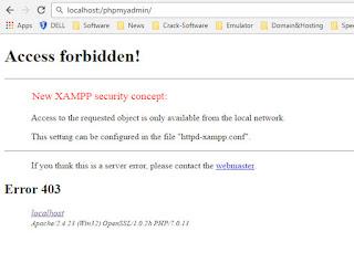 Cara Mengatasi Error Membuka phpMyAdmin Access Forbidden httpd-xampp.conf Error 403