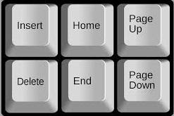Keyboard Page Up and Page Down  Page Up and Page Down