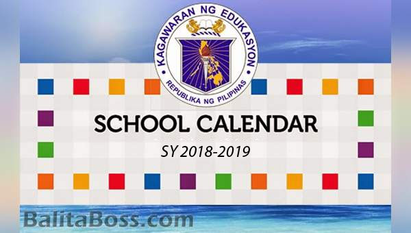 DedEd School Calendar for School Year 2018-2019