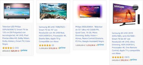 Mejores nuevas ofertas de Amazon en TVs de Samsung, Philips y Hisense