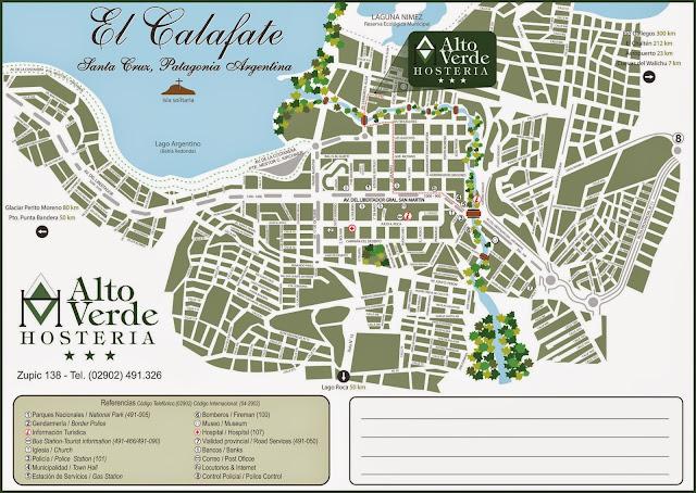 El Calafate map
