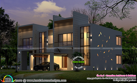 Superb contemporary home plan