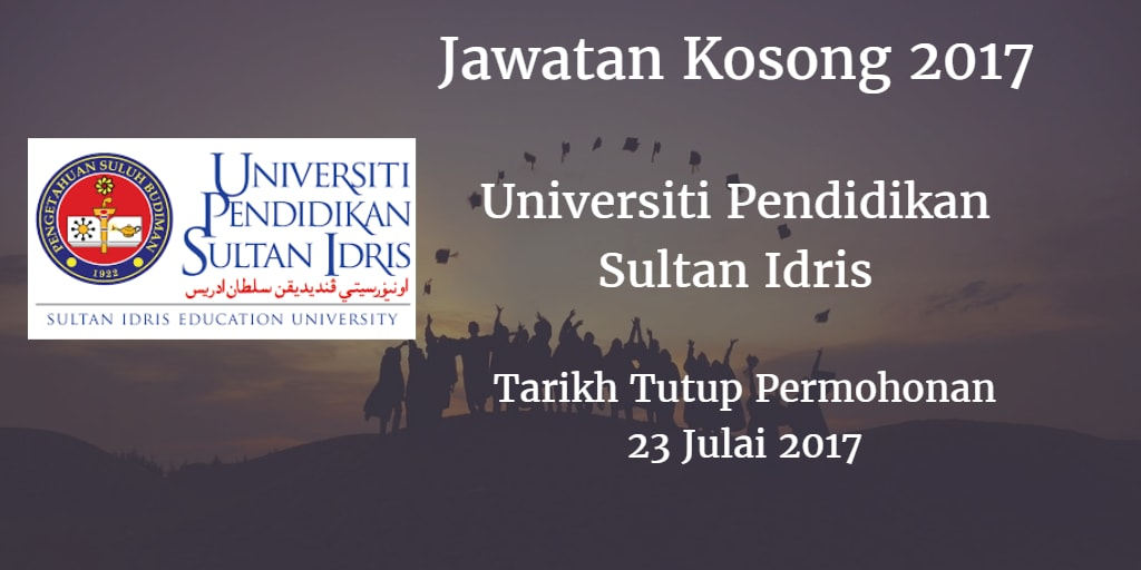 Jawatan Kosong UPSI 23 Julai 2017