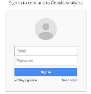 Google Analytics Login Form