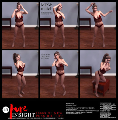 i13 Pure Insight Pose Collection for the Genesis 3 Female