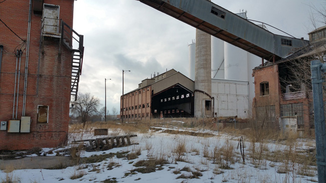 Abandoned buildings of the White Satin Amalgamated Sugar Company in Loveland, Colorado