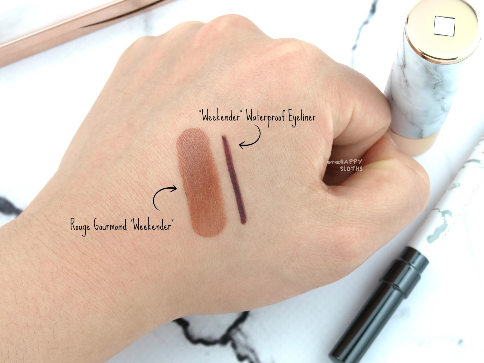 Lise Watier x ELLE Weekender Intense Waterproof Eyeliner & Rouge Gourmand Lipstick: Review and Swatches