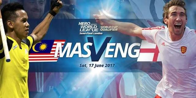 Live Streaming Malaysia vs England 17.6.2017 Liga Hoki Dunia