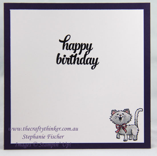 Stampin Up, Weather Together Bundle, Cat, Masking & Sponging, Stampin Up Australia Demonstrator, Stephanie Fischer, Sydney NSW