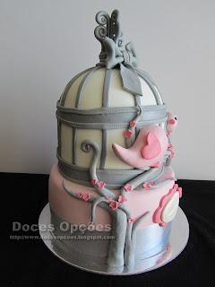 birds cage birthday cake