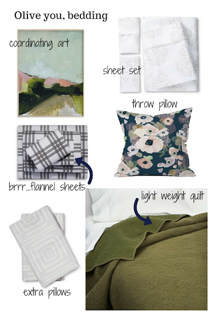 dreamy mix and match patterned bedding from Target