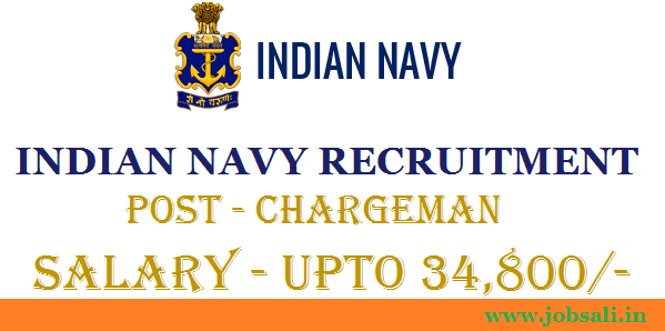 Join Indian Navy, Indian Navy Career, Indian Navy Chargeman jobs in Mumbai