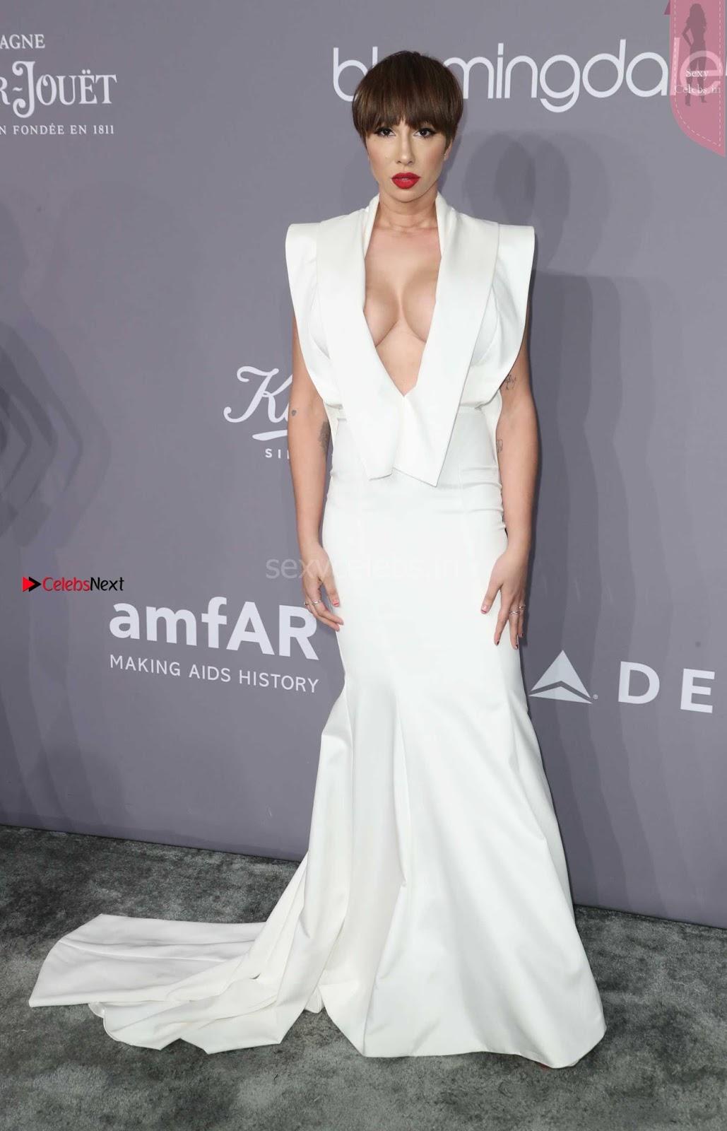 OMG Beautiful boobs of Jackie Cruz at 2018 amfAR Gala in New York ~ SexyCelebs.in Exclusive