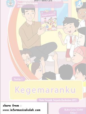 Buku Guru Kelas 1 SD Tema II Kegemaranku Kurikulum 2013 Revisi Terbaru Tahun 2016