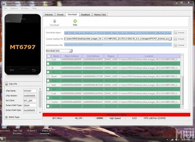 Cara Flash Redmi Note 4X MediaTek Nikel Dengan SP Flash Tool Terbaru