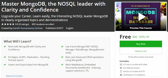 [100% Off] Master MongoDB, the NOSQL leader with Clarity and Confidence| Worth 20$